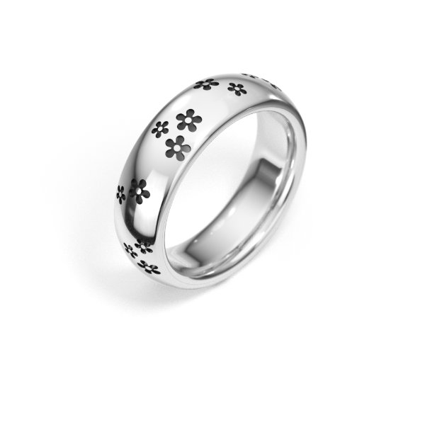 Sterling Silver Sakura Ring