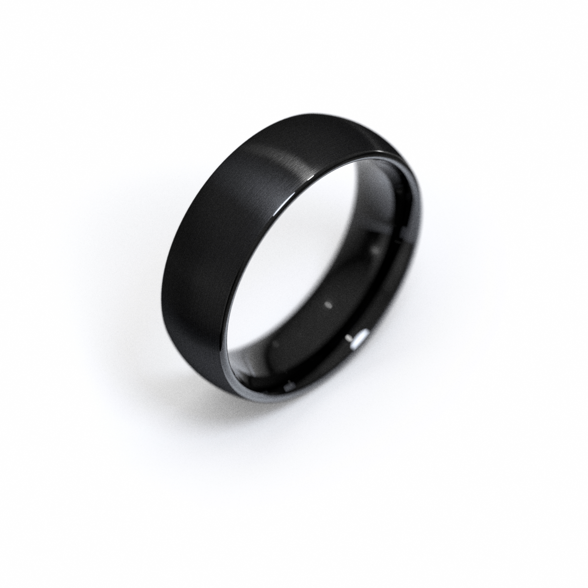 Plain Black Tungsten Band with Brushed Matte Finish
